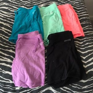 Justice cotton shorts fun colors! Size 14